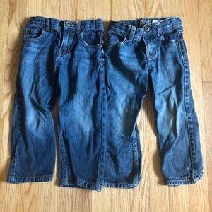 3T boys jeans - healthtex and osh kosh